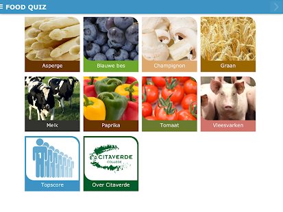 Citaverde food quiz android apps on google play for Cuisine google translate
