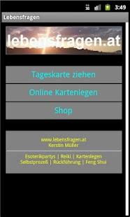 Lebensfragen Kartenlegen - screenshot thumbnail