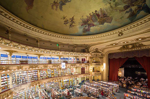 bookstore-Buenos-Aires - El Ateneo Bookstore in Buenos Aires, Argentina.