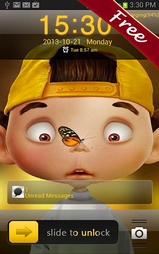Cute Boy HD Go Locker Theme