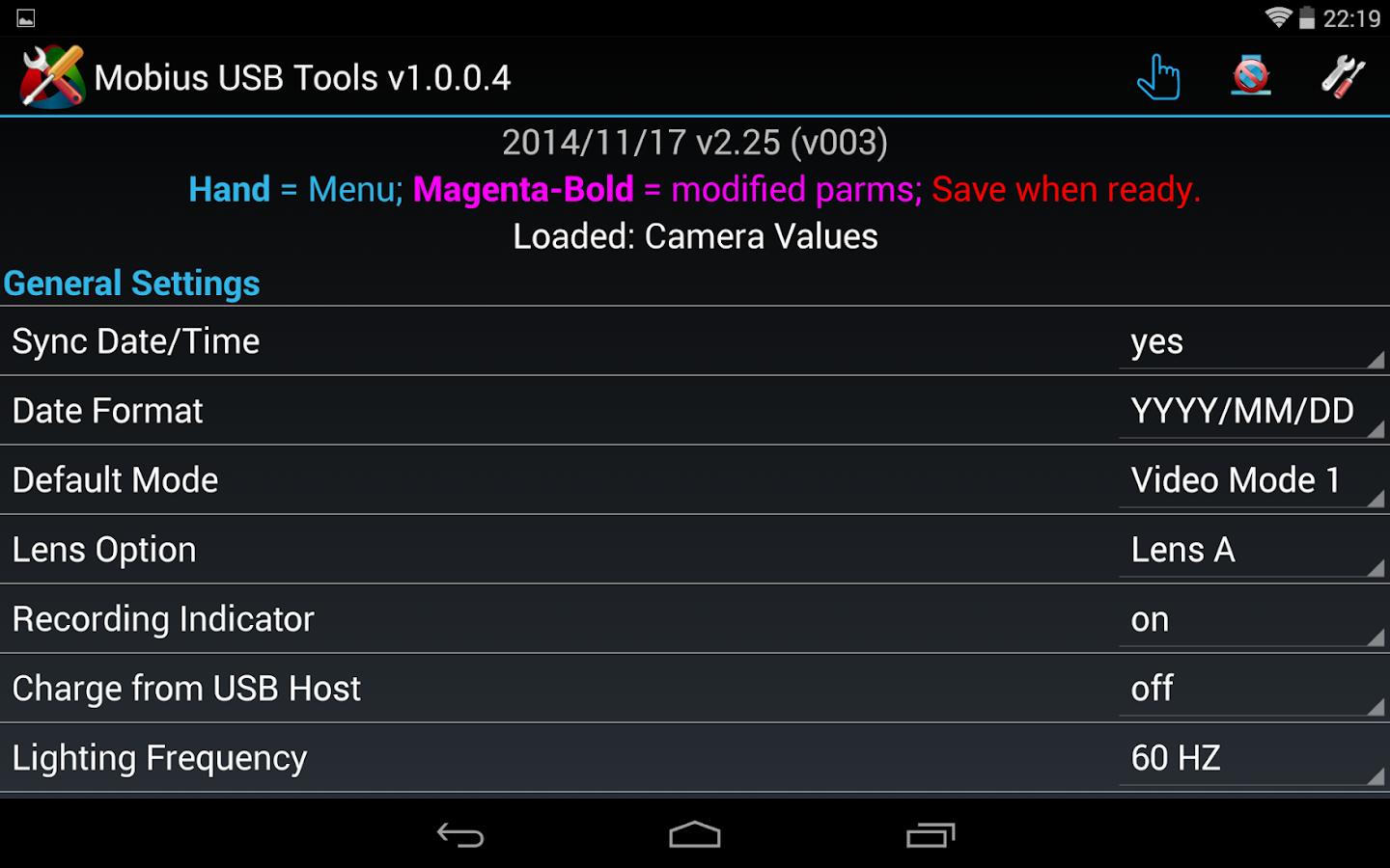 Mobius USB Tools - screenshot