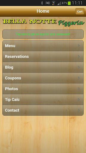 Restaurant App Engines Demo