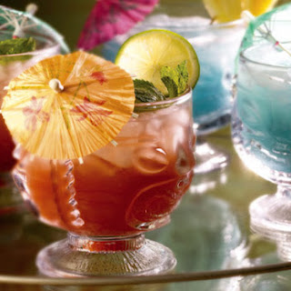 Mai Tai and Blue Hawaiian Cocktails.