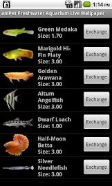 aniPet Freshwater Aquarium LWP Screenshot 3