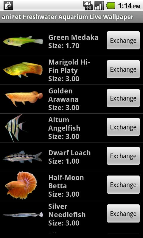 aniPet Freshwater Aquarium LWP - screenshot