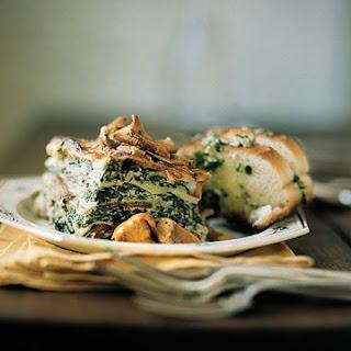 Wild Mushroom and Spinach Lasagna.