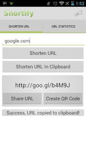 Shortify! Goo.gl URL Shortener - screenshot thumbnail
