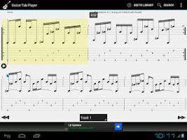Screenshot of Guitar Tab Player