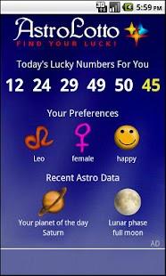 Astro Lotto- screenshot thumbnail