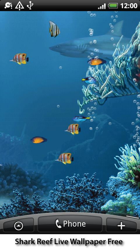Shark Reef Live Wallpaper Free - screenshot