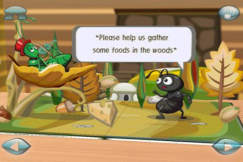 Ant&Grasshopper:3D Story Book- screenshot