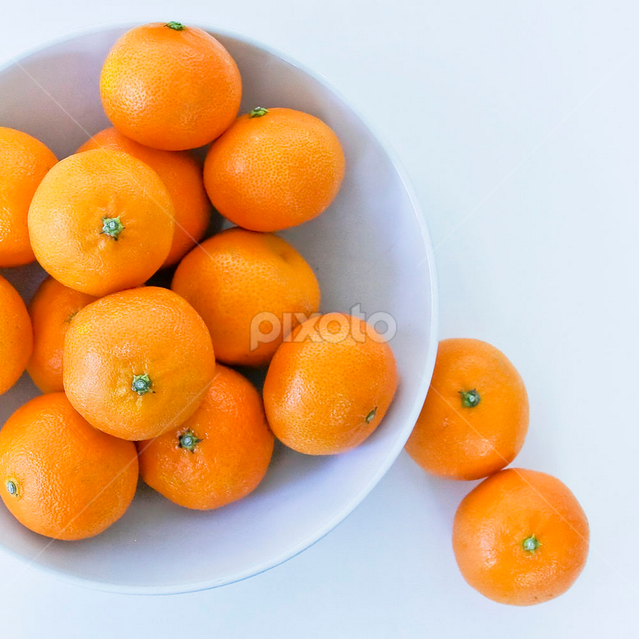 Oranges by Rita Colantonio - Food & Drink Fruits & Vegetables ( white bowl, food & beverage, oranges, eat & drink, assymetrical, meal )