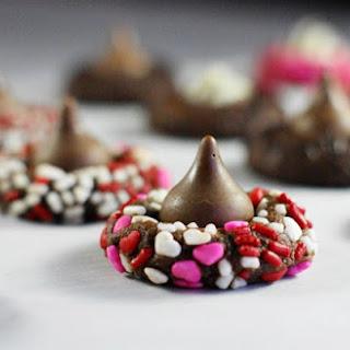 Chocolate Valentine Kiss Cookies.