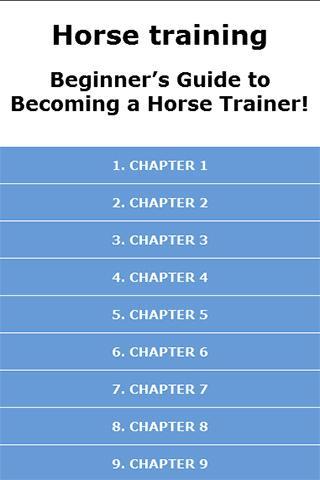 Horse Training for Beginner's