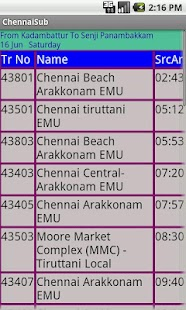 Chennai Suburban trains- screenshot thumbnail
