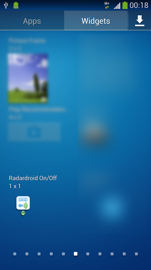 Widget for Radardroid Pro- screenshot