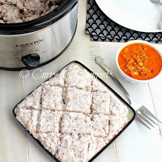 Crockpot Creamy Savory Coconut Rice (Sri Lankan Kiri Bath) #crocktoberfest2013