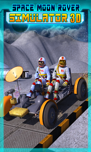 Space Moon Rover Simulator 3D