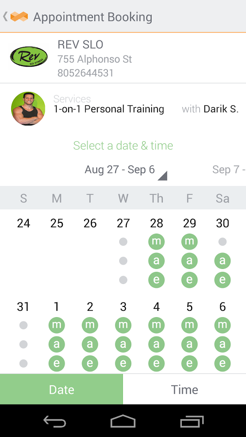 MINDBODY Connect - screenshot