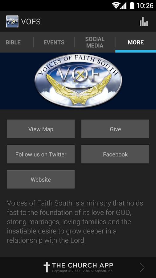 Voices Of Faith South- screenshot