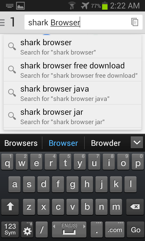Shark Browser- screenshot