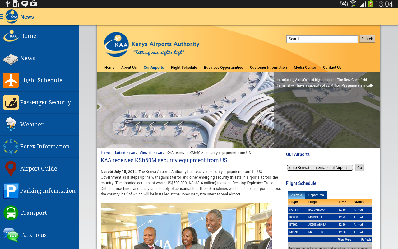 JKIA.Nairobi- screenshot