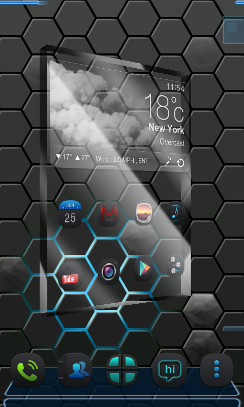 Next honeycomb live wallpaper - screenshot