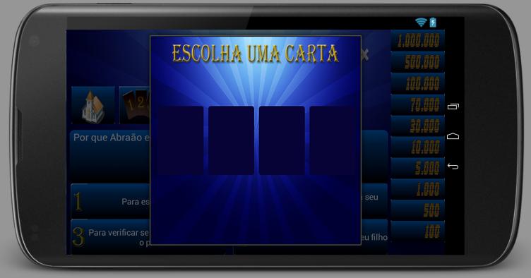 Jogo do Milhão Bíblico - screenshot