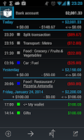 Screenshot of My Expenses