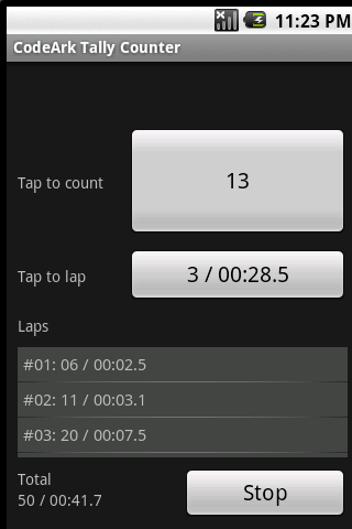 CodeArk Tally Counter - screenshot