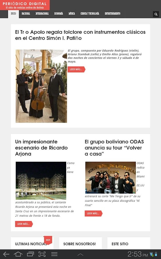 Periodico Digital - screenshot