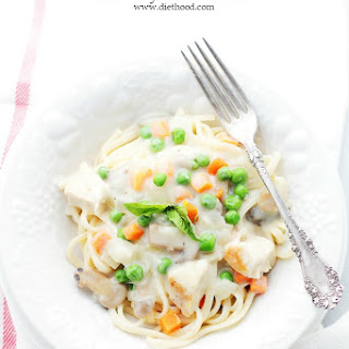 Turkey Tetrazzini with Fetuccine