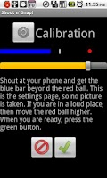 Screenshot of Shout n' Snap  Voice Activated