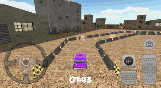 3D City Purple Car Parking