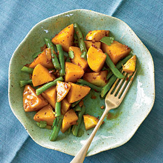 Spiced Potatoes and Green Beans