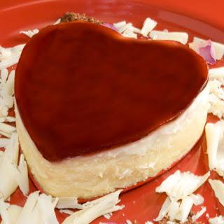 Luscious White Chocolate & Raspberry Rose Petal Cheesecake