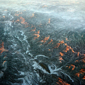 Colorado Rockies At 35,000 Feet At Sunset by VAM Photography - Landscapes Mountains & Hills ( mountains, sunset, snow, colorado, travel,  )