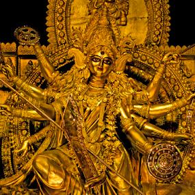 Maa Durga (Indian Godess) by Debopam Banerjee - Artistic Objects Other Objects ( mahi, famous, god, seasonal, dushara, statues, illustration, holy, good, beauty, glow, people, durga, religion, hindu, indians, tradition, mythology, power, saree, festival, feminine, decoration, maa-durga, art, godess-durga, goddess, worship, hindu-mythology, sculpture, color, female, popular, weapon, artistic, hindustan, bow, success, religious, devoted )