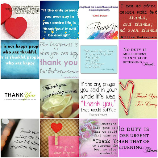 Thank You Quotes Cards