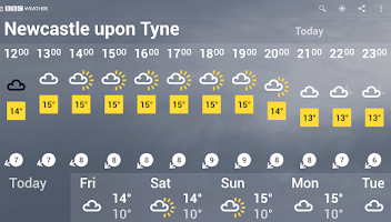 Screenshot of BBC Weather