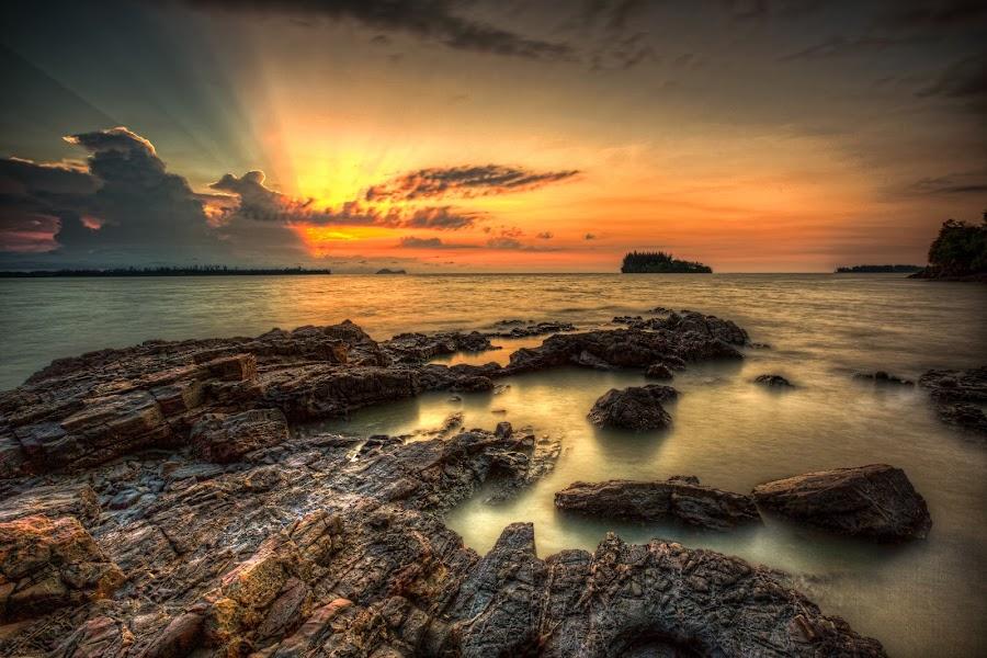 by NC Wong - Landscapes Sunsets & Sunrises ( lee little stopper, pasir panjang, rock, beach, seascape )