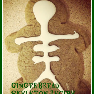Gingerbread Skeleton Cookies