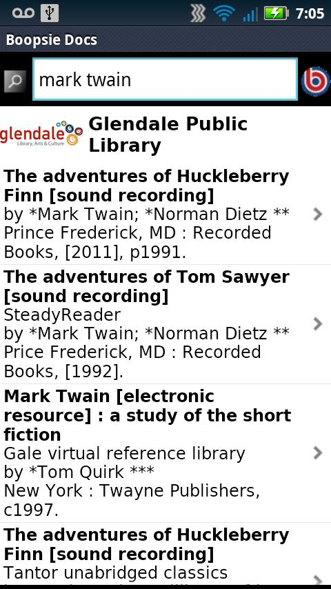 Glendale Public Library CA - screenshot