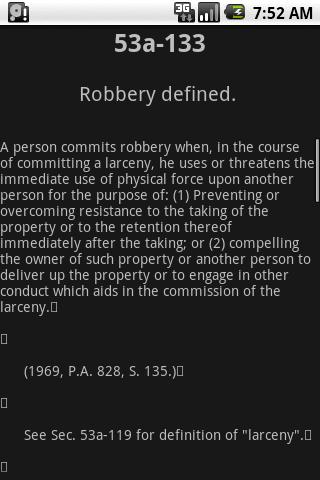 CTLaw - Criminal Law 21a, 53/a- screenshot