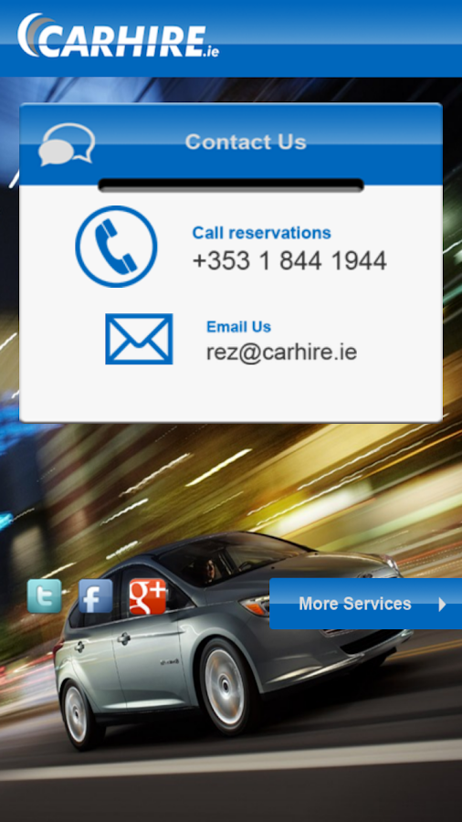 Car Hire Ireland Under