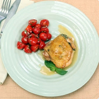 Roasted Olive Chicken Thighs