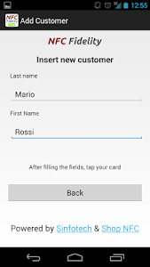 NFC Fidelity screenshot 1