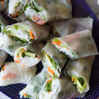 Avocado Shrimp Spring Rolls