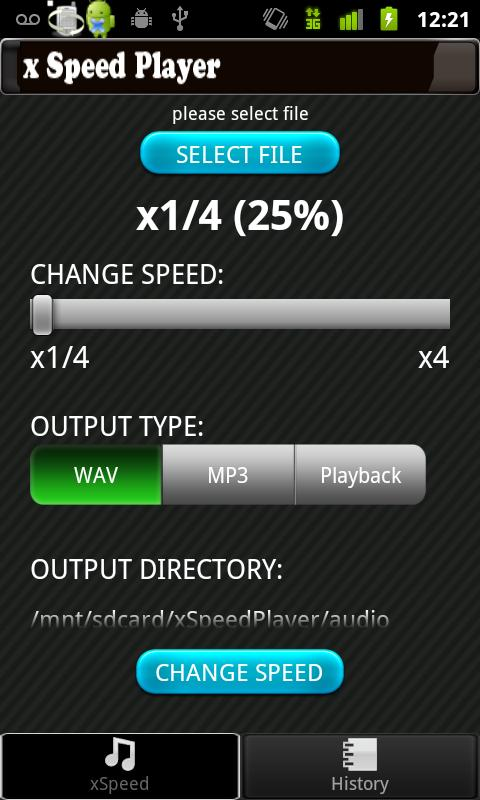 AudioSpeedChange: xSpeedPlayer- screenshot