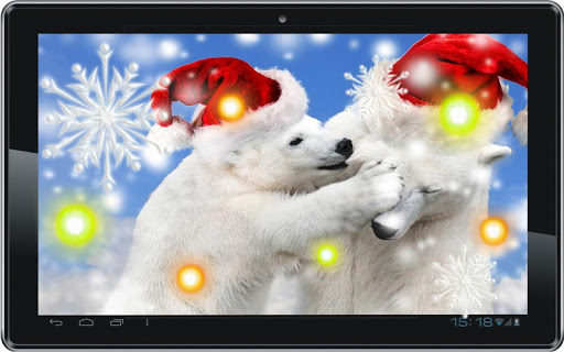 【免費個人化App】Cristmas Bear live wallpaper-APP點子